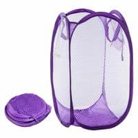 Laundry Pop Up Mesh Washing Basket Bag  Foldable Bin Hamper Storage